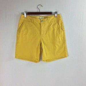 T141 Cato Contemporary Yellow Shorts Size 6